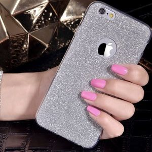 Accessories - Silver Glitter Soft iPhone Case Various Sizes